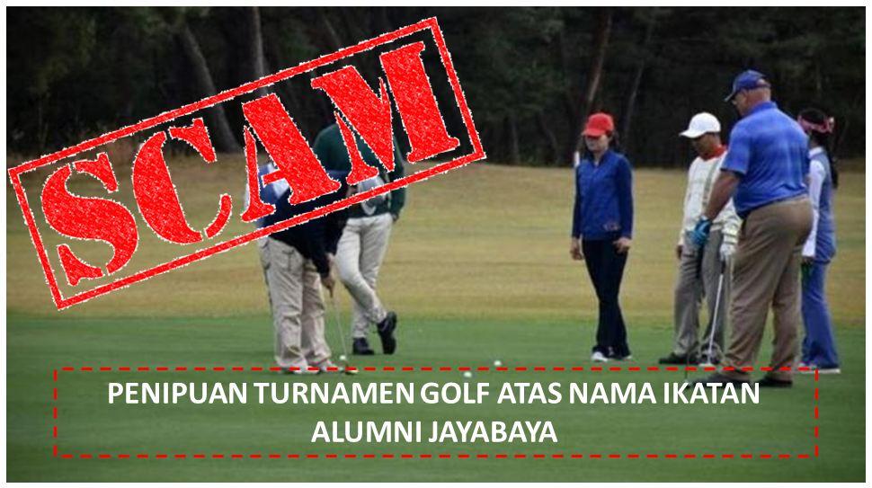 Ini penipuan Golf Jayabaya