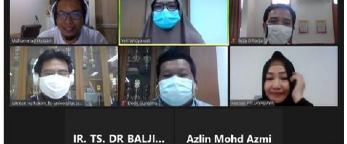 Diskusi Virtual Persiapan Webinar sebagai Implementasi MoU antara  FTI-UJ Indonesia - UiTM Malaysia