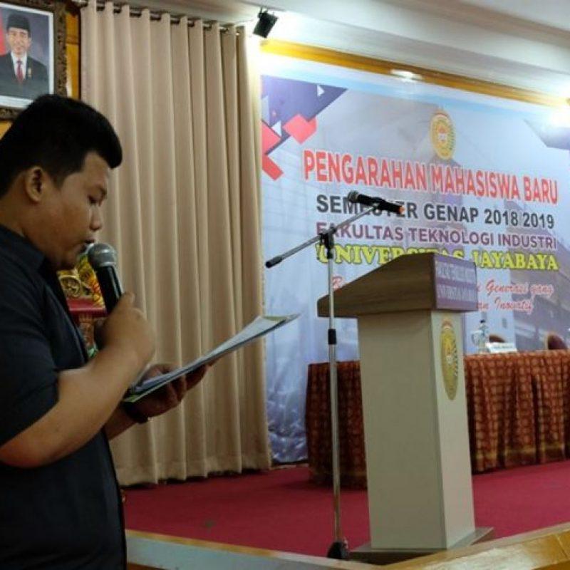 PENGARAHAN MAHASISWA BARU SEMESTER GENAP 2018-2019 FAKULTAS TEKNOLOGI INDUSTRI UNIVERSITAS JAYABAYA