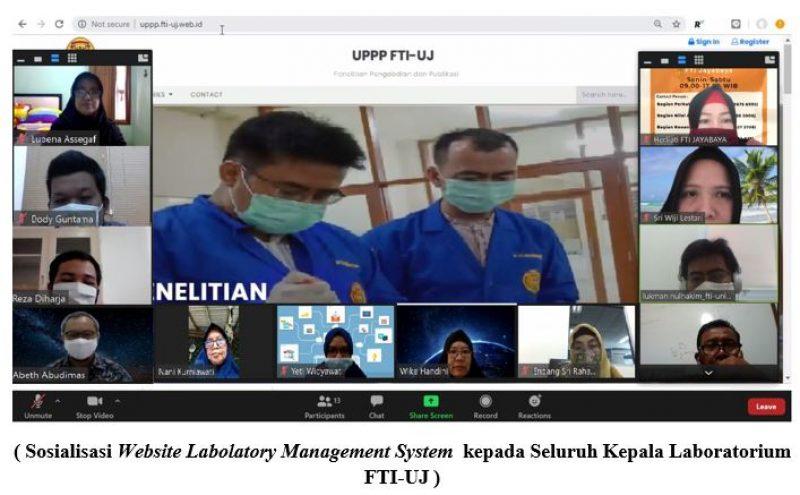 Sosialisasi Website Labolatory Mangement System kepada Seluruh Kepala Laboratorium FTI-UJ