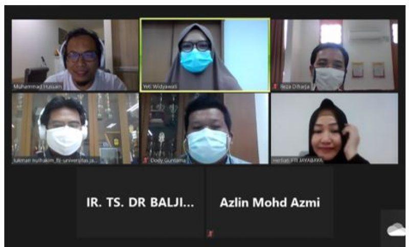 Diskusi Virtual Persiapan Webinar sebagai Implementasi MoU antara  FTI-UJ Indonesia – UiTM Malaysia