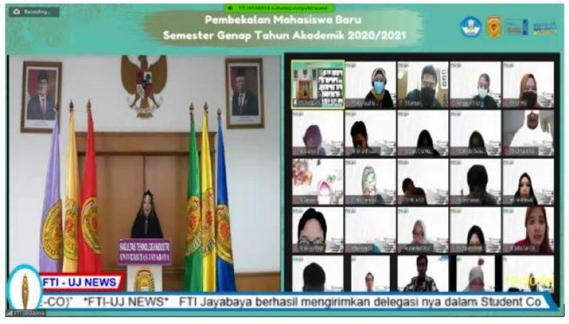 PELANTIKAN DAN PEMBEKALAN MAHASISWA BARU SEMESTER GENAP 2020-2021 FAKULTAS TEKNOLOGI INDUSTRI UNIVERSITAS JAYABAYA