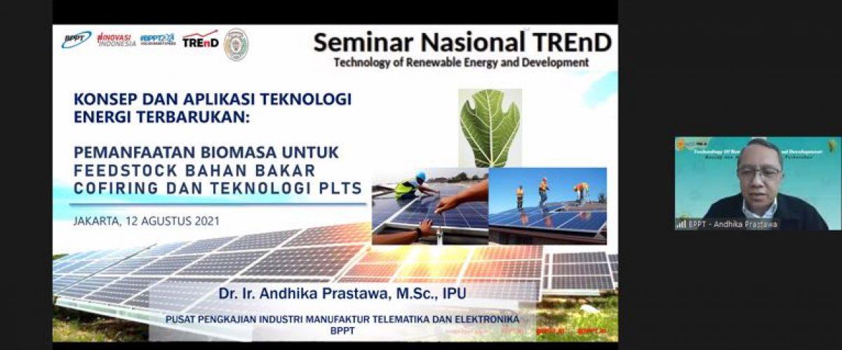 "FTI UJ Mengadakan Seminar Nasional TREnD 1 dengan Tema "" Konsep dan Aplikasi Teknologi Energi Terbarukan"""