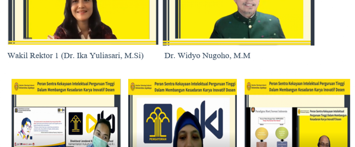 Webinar Peran Sentra Kekayaan Intelektual Perguruan Tinggi Dalam Membangun Kesadaran Karya Inovatif Dosen
